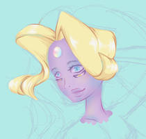 Half Sketch Rainbow Quartz by CloverWing