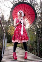 Kitsune on the bridge by kitsune89