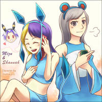 Request-Mizu and Shannah by KoujiT