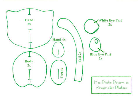Mew Plushie Pattern by Plushbox
