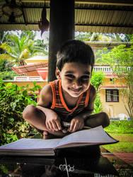 Happy Reader by rjwarrier