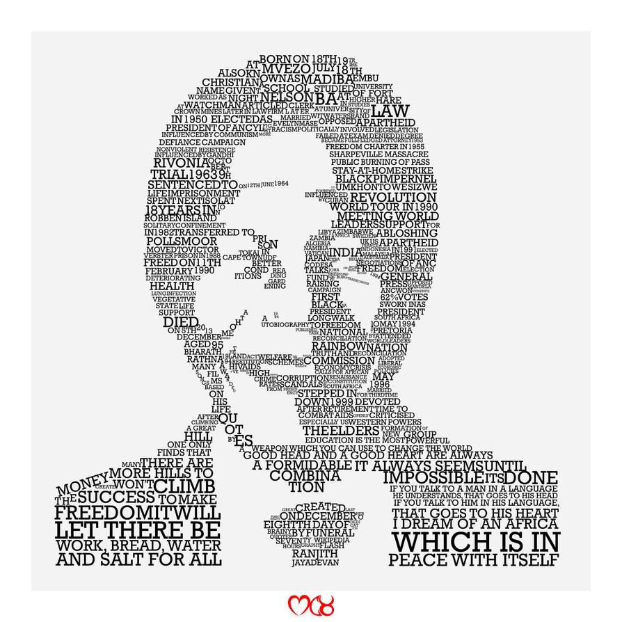 Nelson Mandela by rjwarrier