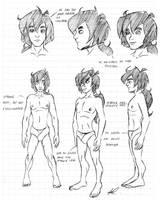 Mowgli model sheet by Tiquitoc