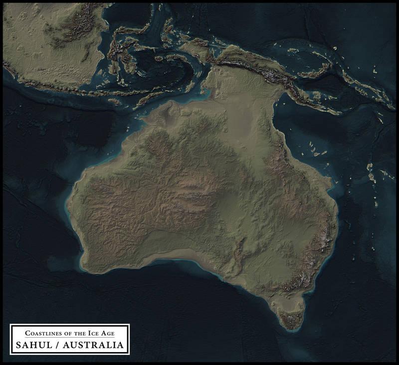 Coastlines Of The Ice Age Sahul Australia By Atlas V7x On Deviantart