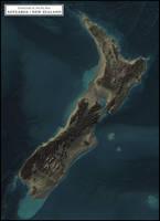 Coastlines of the Ice Age - Aotearoa / New Zealand by atlas-v7x