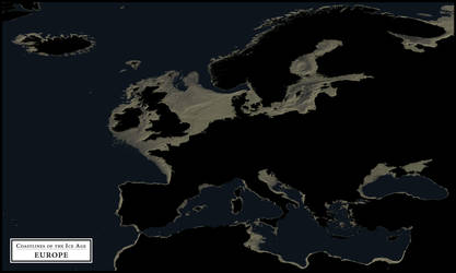 Coastlines Of The Ice Age Europe Alternate By Atlas V7x On