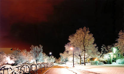 Snowy night by snipes104