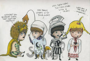 The Beatles Shakespeare-sketch by Tigers13