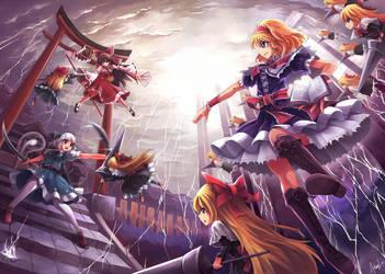 Zero Two - Alice vs Reimu x Youmu by mysticswordsman21