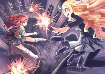 Kuroko vs Frenda by mysticswordsman21