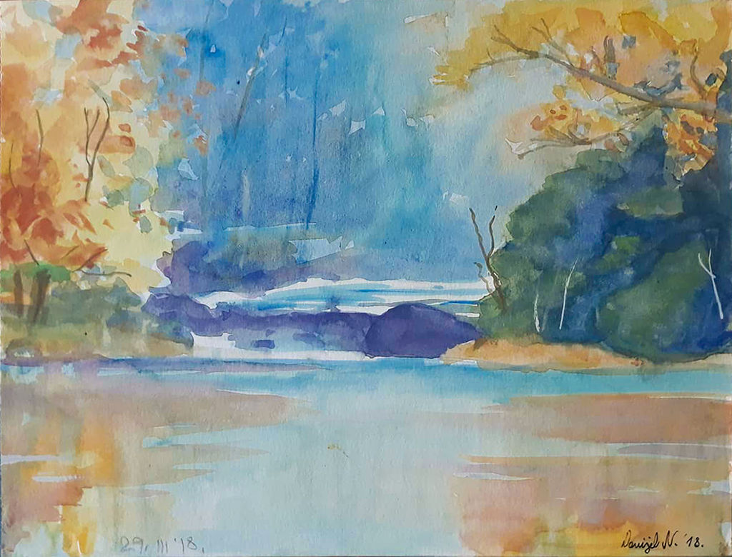 Forest aquarelle by NumiComics