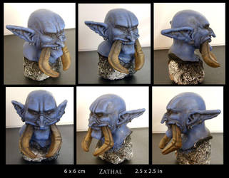 Zathal - Clay Head Colored by lanisaz