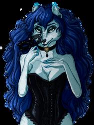 . Shady lady fox . [Commission] by Pur-kissa