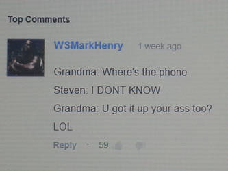 I've reached top comment on youtube! :D by WSMarkHenry