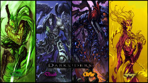 Darksiders The 4 Horsemen by ShabaazKhan