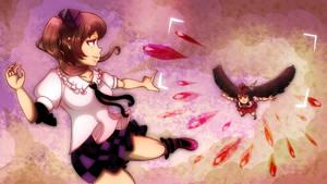 Tengu's fight by Aiko1010