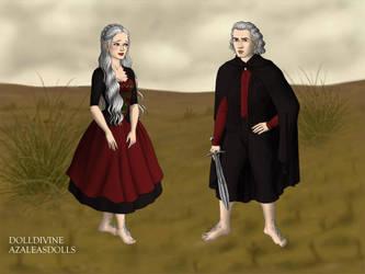 Daenerys and Viserys Hobbits by namesarestupid