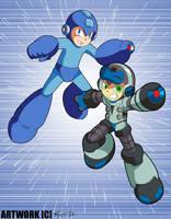 True Double Heroes: Beck and Mega Man! by SaitoKun-EXE