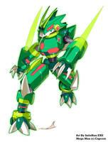 Mega Man ZX Reburst: Draken the Dracoroid by SaitoKun-EXE