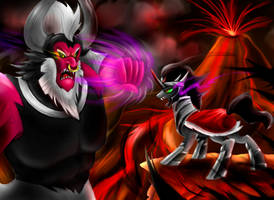 Lord Tirek vs King Sombra by Carueniiju