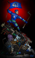 Zack Kassian: Canuck by OuthouseCartoons