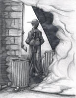 Smokey Alleyway by OuthouseCartoons