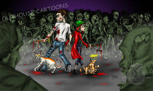 Zombies Commission by OuthouseCartoons