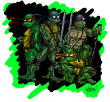 Ninja Turtles by OuthouseCartoons