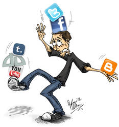 Social Media by OuthouseCartoons