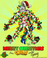 Merry Christmas 2013 from Cowman and the gang by OuthouseCartoons