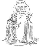 Batman v Superman by OuthouseCartoons