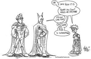 Batman v Superman v Robin by OuthouseCartoons