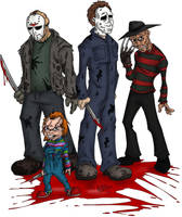 Team Horror by OuthouseCartoons