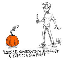 pumpkin carving by OuthouseCartoons