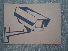 Security Camera Stencil by SoLKoNE