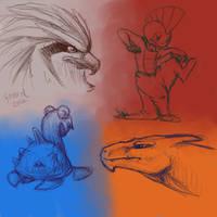 Favorite Pokemon: Normal, Fighting, Water, Fire by SnowyKestrel