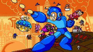 Mega Man 7 Cover (Pixel Art) by codster76