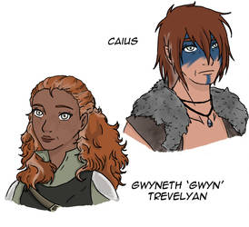 Gwyneth Trevelyan and Caius by yinyangswings