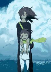 Dororo and Hyakkimaru by Ginkgosan