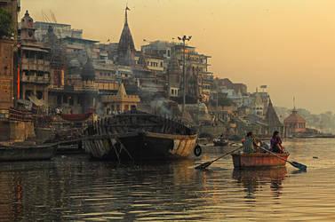 morning in Varanasi by AkdasFirst
