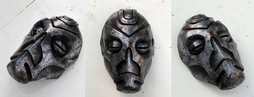 Dragon Priest Mask Mixed Metal by Thomasotom