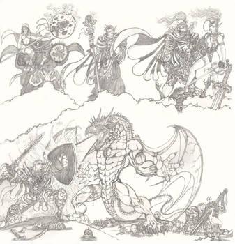 Dragon Battle 1996 6 page beast by JaeDub003