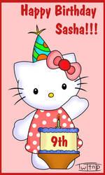 Sashas 9th Birthday present by Twitnip