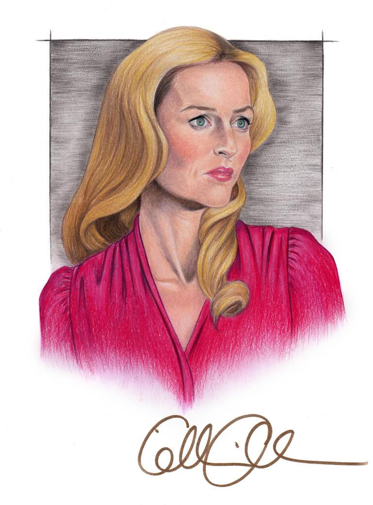 Gillian Anderson Portrait with Autograph by MattSimas