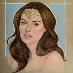 Gal Gadot as Wonder Woman Portrait Study by MattSimas