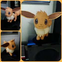 Life-size Eevee Papercraft by Sabi996 by DanboardTheBox