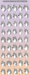 50 Different Cartoon Wolves by AddictionHalfWay