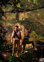 Nathan Drake X Lara Croft by hemison