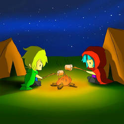 Camping , digital art by octoberfest2013