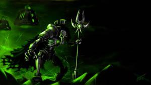 warhammer 40k necron lord by Xecut